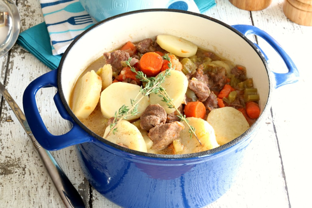 This traditional Irish Stew is hearty and delicious. The lamb is so tender it practically melts in your mouth. Enjoy a bowl this St. Patrick's Day!