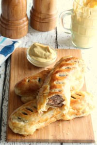 Here is a fun and authentic Saint Patrick's Day appetizer to serve your family and friends. In Ireland, sausage rolls are very popular. You can find them just about anywhere you go. They are served served at pubs, parties, and can even be purchased ready made at bakeries. These pastry wrapped sausages are also prepared for a hearty breakfast on the go.