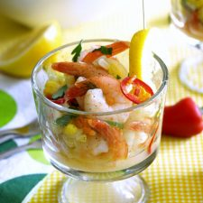 Quick Pickled Shrimp Close up 680px