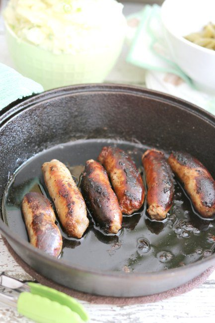 Homemade Irish Sausages are simple and easy to prepare -- even if you don't have a meat grinder or casings. Just mix the spices it's off to the pan. Simple.