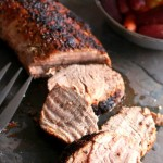 Pork Tenderloin is a very lean cut of meat that is flavorful and juicy. It requires not major preparation to deliver a delicious meal in just 30-minutes. #30-minute #Roasted #Pork #Tenderloin #Recipe #KitchenDreaming