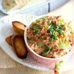 Salmon Rillettes is an appetizer spread that uses buttery salmon and is the perfect appetizer or addition to any charcuterie platter.