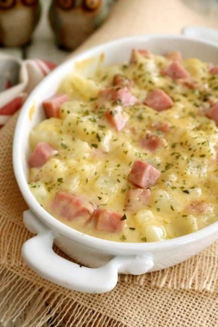 Stove Top Scalloped Potatoes taste just like the layered version but cook in half the time of the original with none of the fussy preparation. This is a great dish for busy families.