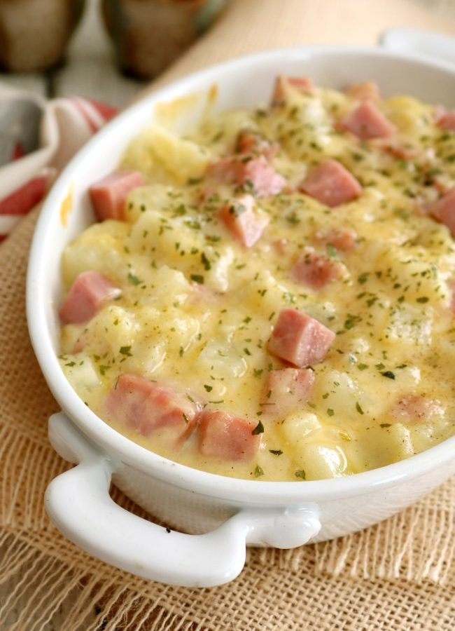 StoveTop Scalloped Potatoes with Ham