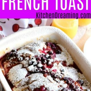 Cream Cheese stuffed French toast with Blueberry Sauce MAIN