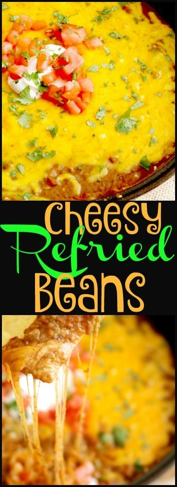 Cheesy Refried Beans is a delicious side dish that doubles as an appetizer or even a main meal. It's a must-have in your weeknight or game day lineup.