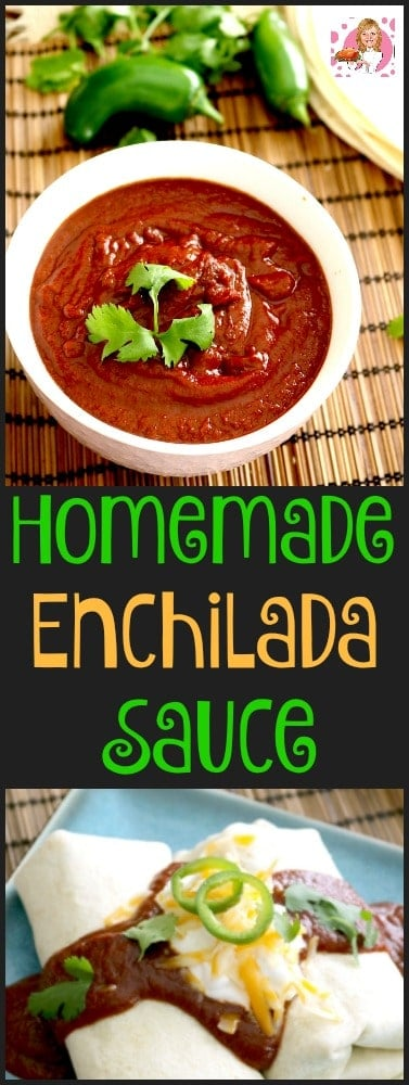 Homemade Enchilada Sauce is quick & easy to make with NO additives or preservatives. Freezes well.