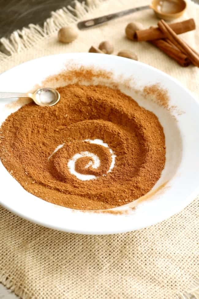 Pumpkin Pie Spice Blend on a plate.
