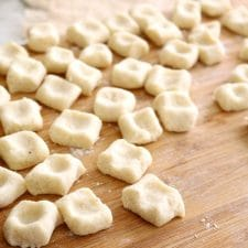 Traditional homemade gnocchi are made with potatoes, flour, egg & salt. You'll be amazed at how easily these come together with typical pantry ingredients.