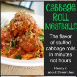 Cabbage roll meatballs PT