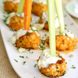 Crock Pot Buffalo Chicken Meatballs