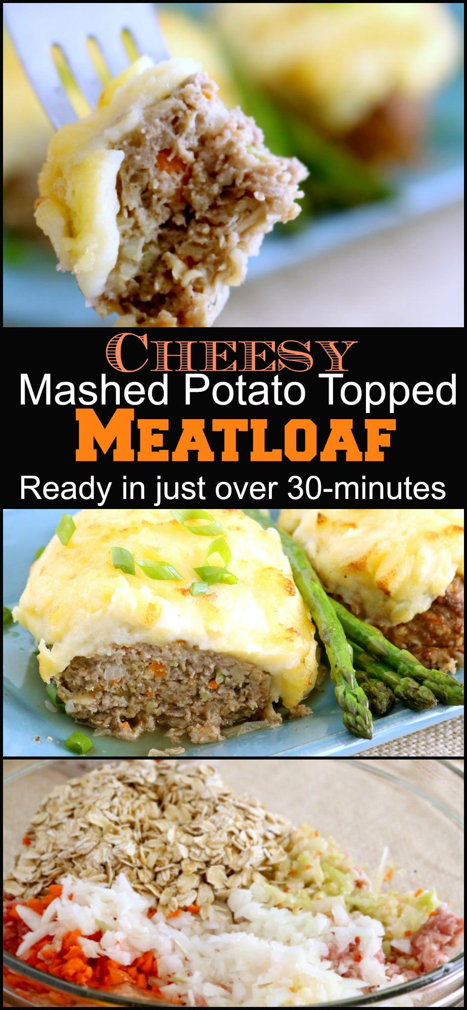 Satisfy the whole family with this kid-friendly meal. Meatloaf topped with Cheesy Mashed Potatoes is ready in just over 30-minutes.