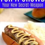 Crock Pot Beer Brats for a Crowd MAIN