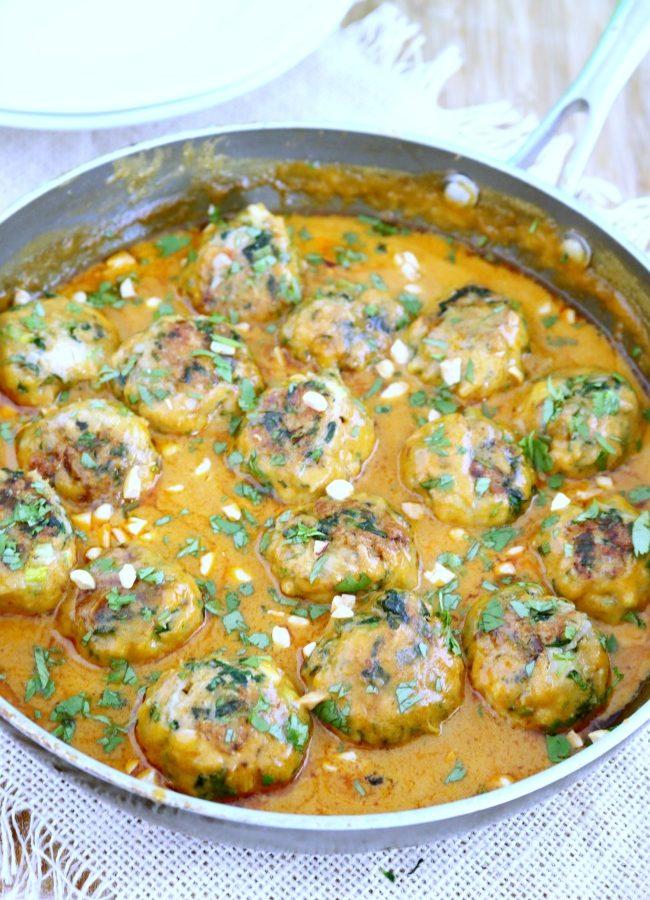 Thai Peanut Curry Meatballs (Pra Ram)