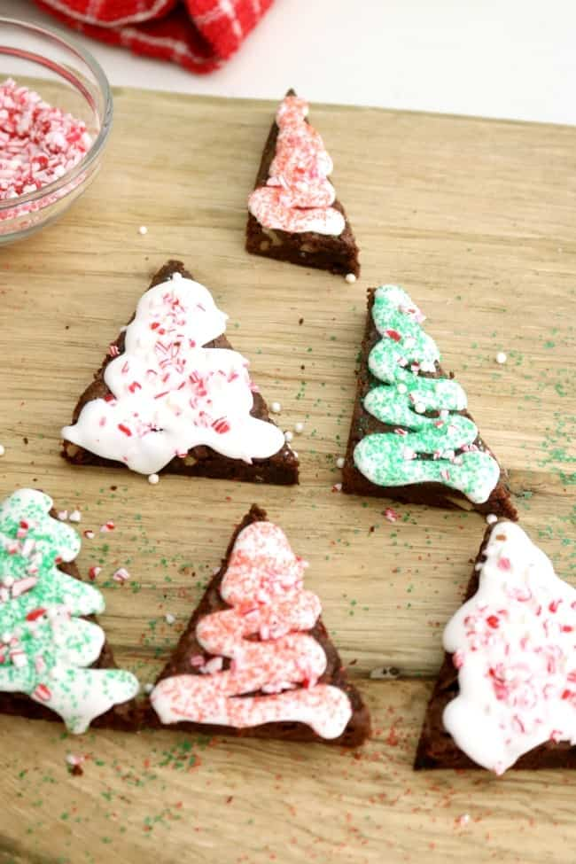 christmas tree brownies a fun project for kids my basic brownie mix makes a - Christmas Easy Recipes