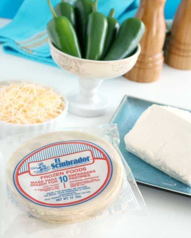 An image of jalapeno popper cheese empanada ingredients.