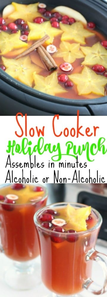 A pinterest pinnable image of Holiday Punch