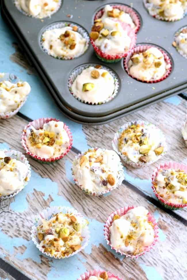 Try this recipe for White chocolate Pistachio Clusters. It's decadent white chocolate studded with dried fruit and nuts; perfect for the holidays.