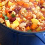 Italian Minestrone soup with pasta and beans 5