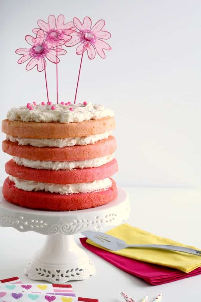 Pink Ombre Cake Kitchen Dreaming
