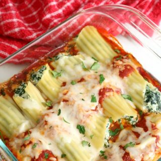 Spinach and Cheese Manicotti 3 650