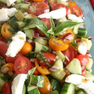 Tomato basil cucumber salad 3 650