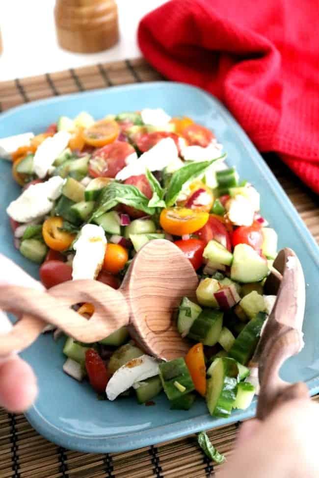 Tomato basil cucumber salad 4 650