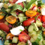 Tomato basil cucumber salad 5 650
