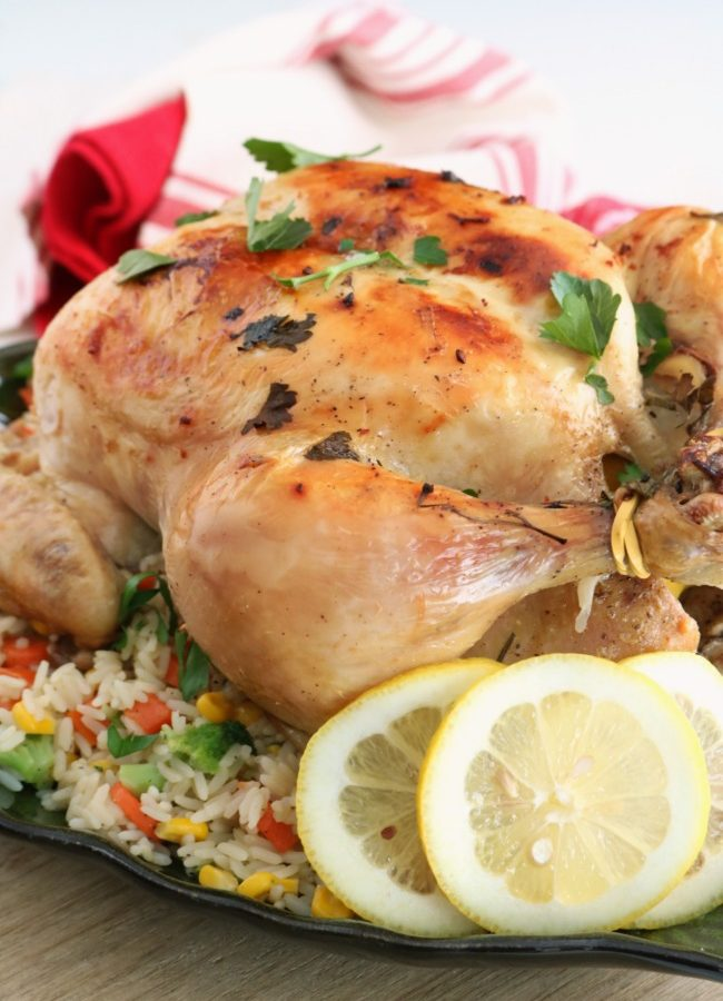 One Pot Roasted Lemon Chicken