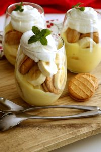 My Mom cooked from scratch long before it became trendy to do so. I always liked when she made homemade pudding and there is a definite flavor difference you just can't get from any boxed pudding mix. With a little variation, this traditional vanilla pudding base can become just about any flavor you desire.