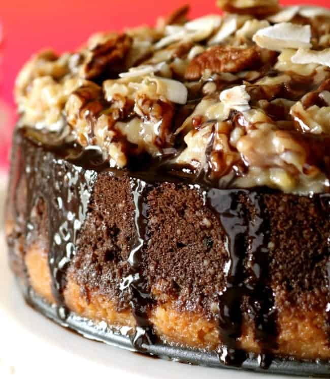 German Chocolate Cheesecake