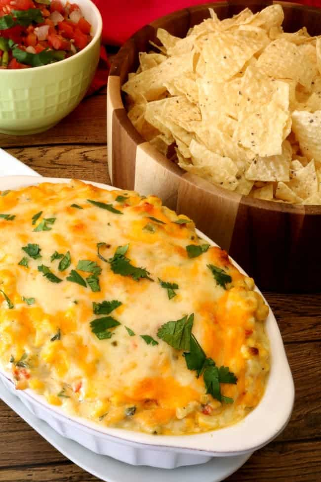 Why wait 'til summer for fresh, sweet corn when we can have it right now? This Hot jalapeño Corn Dip is packed with flavor starting with the fresh, steamed corn and then combined with chopped cilantro, diced jalapeños, and sliced green onions. The flavor of the sweet corn is showcased in this dip and is what makes this dish shine. My husband and I agreed the fresh corn is the difference you can taste in this dip and it's delicious!