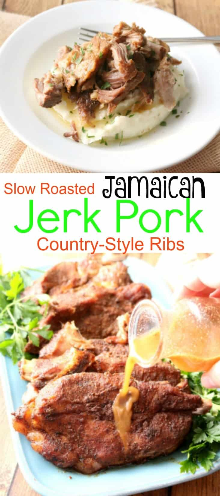 These Jamaican Jerk Pork Ribs bring the flavors of the Caribbean into your home. They are slow roasted in the oven for fall off the bone goodness your family will crave! Serve with traditional sides like fried plantains and rice with pigeon peas for a meal straight out of the tropics.