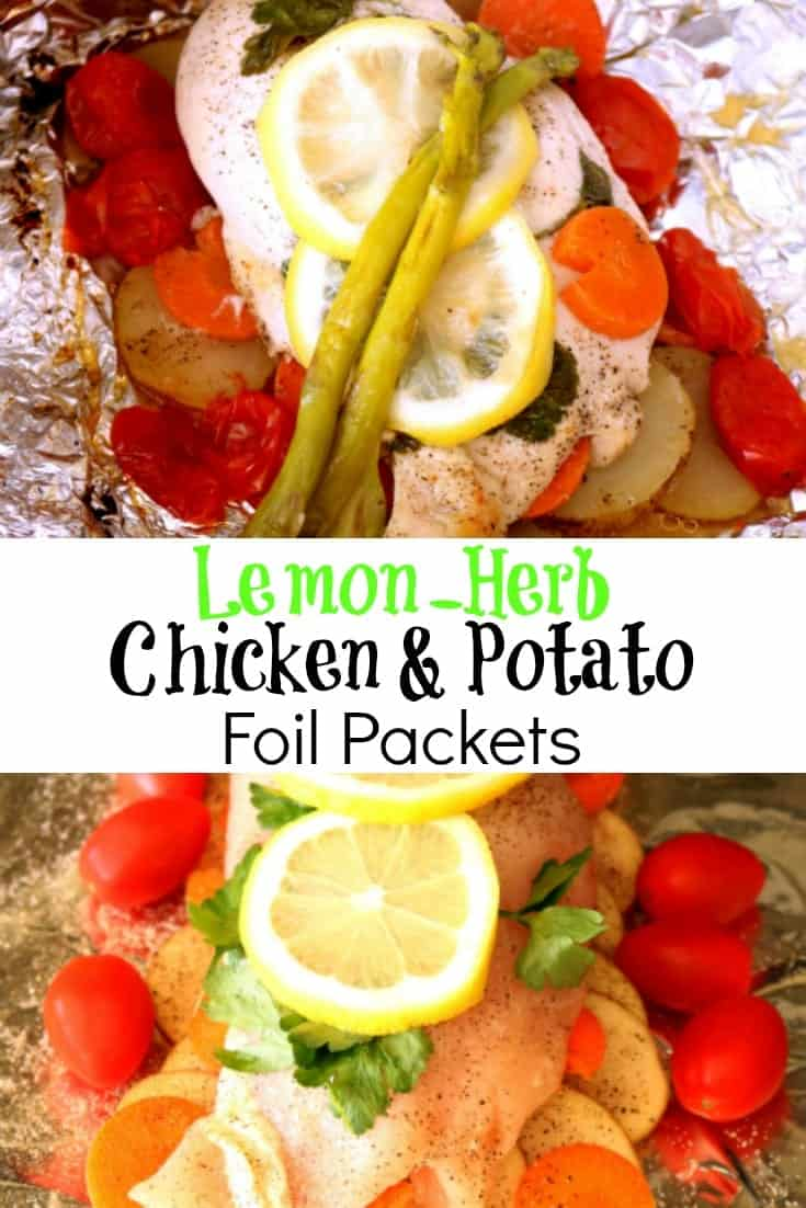 Dive into the summer grilling season with these Lemon-Herb Chicken and Potato Foil Packets that grill up quick and easy without a lot of clean-up afterward. Even if you don't have a grill, these can still be prepared on a camping stove, over a fire, or in a conventional oven.