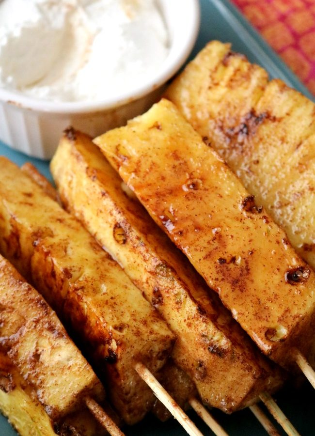 Brazilian Grilled Pineapple in Cinnamon-Sugar Glaze