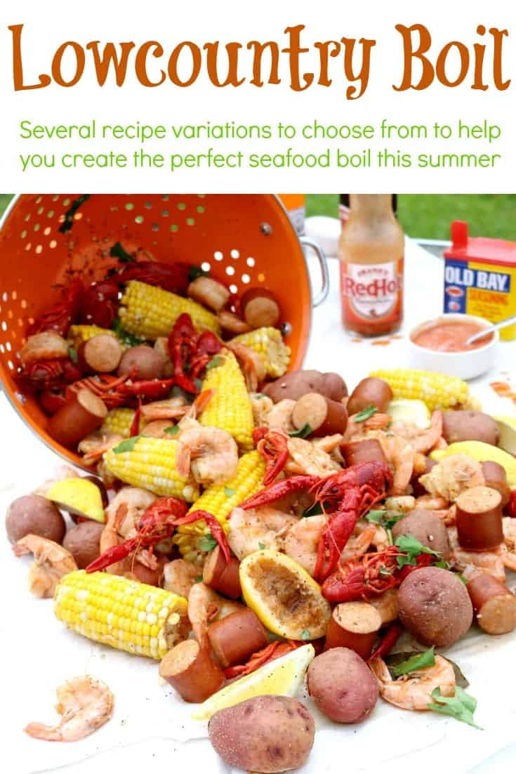 A pinnable image of Lowcountry Boil (Shrimp Boil).