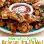 Memphis style Barbecue Dry Rub wings 4pt