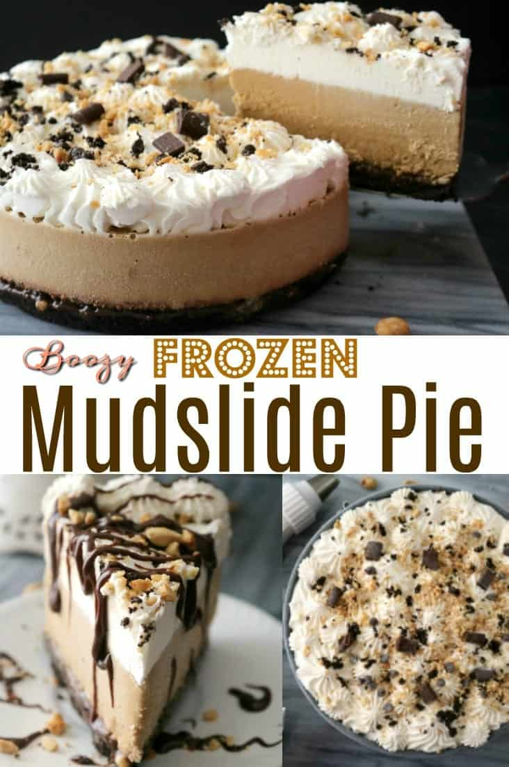Coffee liqueur, vodka, and Irish cream come together to form this amazing Frozen Mudslide Pie.
