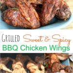 Grilled Sweet and Spicy BBQ Chicken Wings 5PT