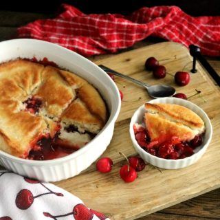 Magic Crust Cherry Cobbler