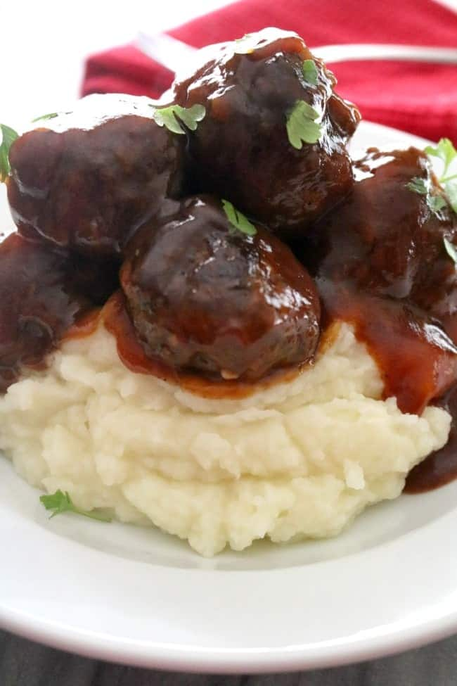These sweet and saucy Bourbon Meatballs are slathered in a thick Kentucky Bourbon sauce. Your guests will be begging you for the recipe.