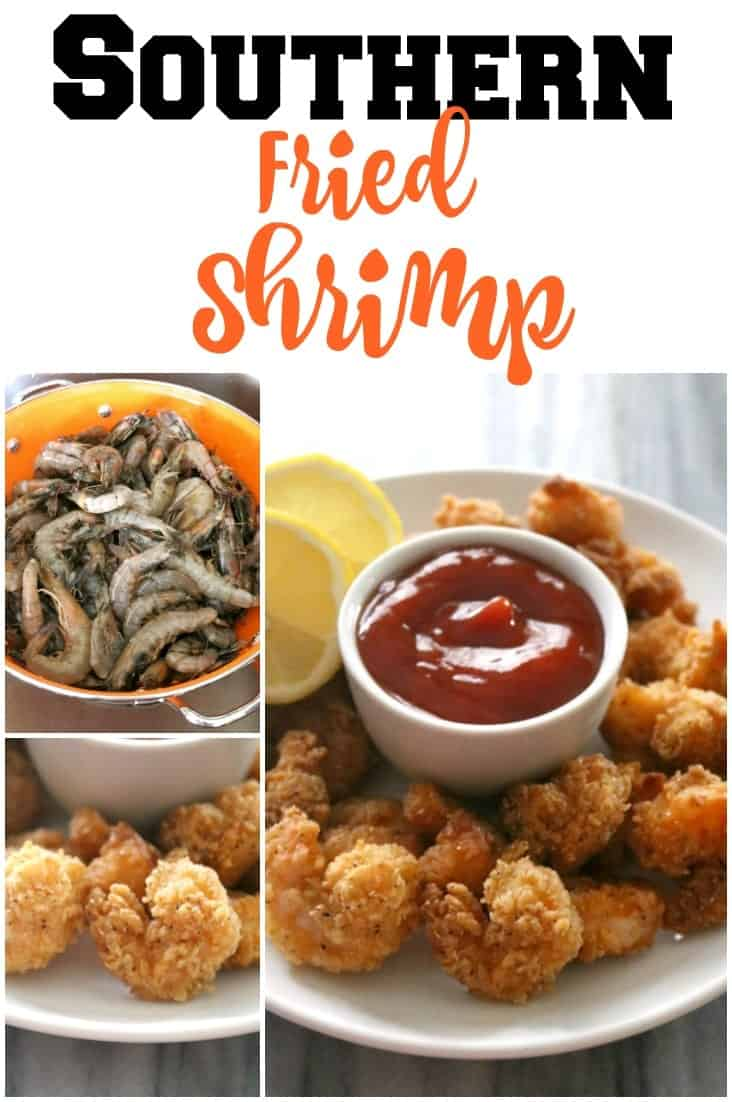 Breaded and fried until golden brown and delicious, these Southern Fried Shrimp are tender and juicy with an incredibly crispy crust.