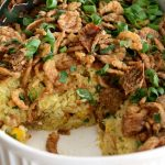 The sweet yet savory flavor of this creamy corn pudding side dish makes it the perfect comfort food and accompaniment to your next holiday dinner. The recipe uses common pantry ingredients making it easy to prepare.