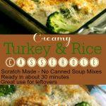 Turkey Rice Casserole 4 PT