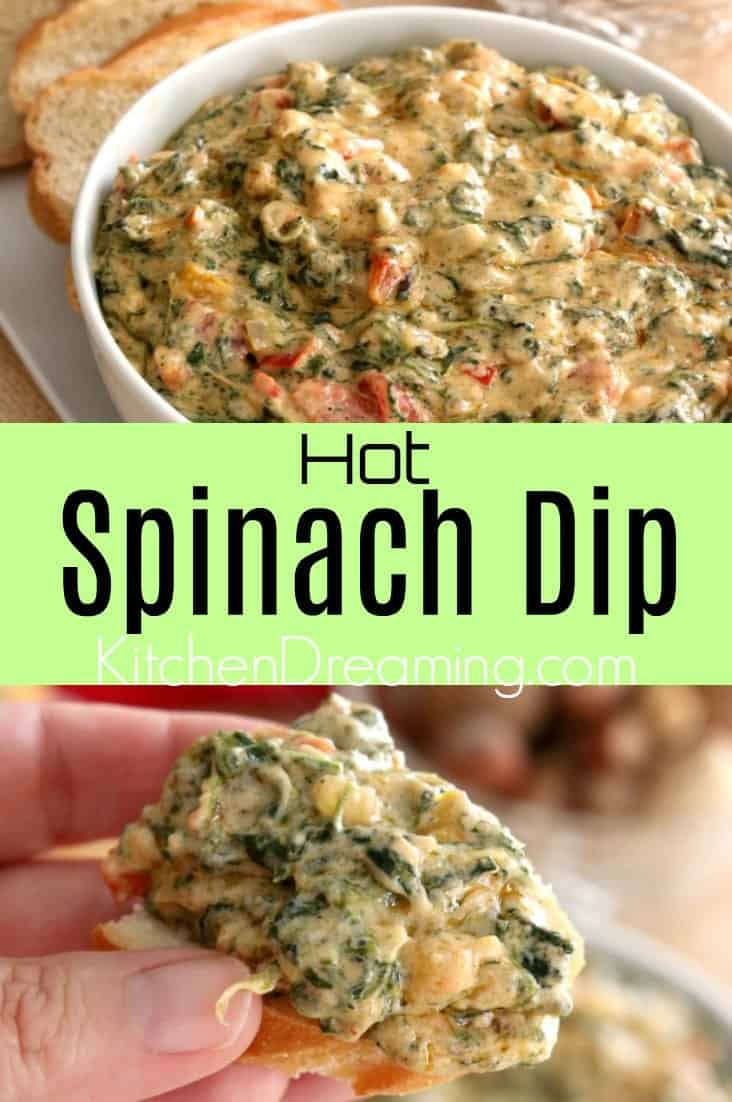 Hot and cheesy, gooey and melty, Hot Spinach Dip is the perfect appetizer.