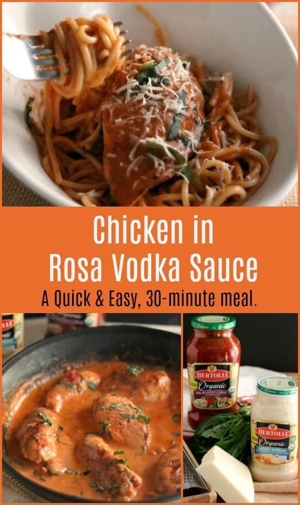 Chicken in Rosa Vodka Sauce #DateNight #Chicken #Recipes #Easy