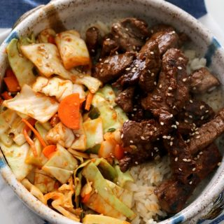 Korean Beef Rice Bowl with Quick Kimchi 3