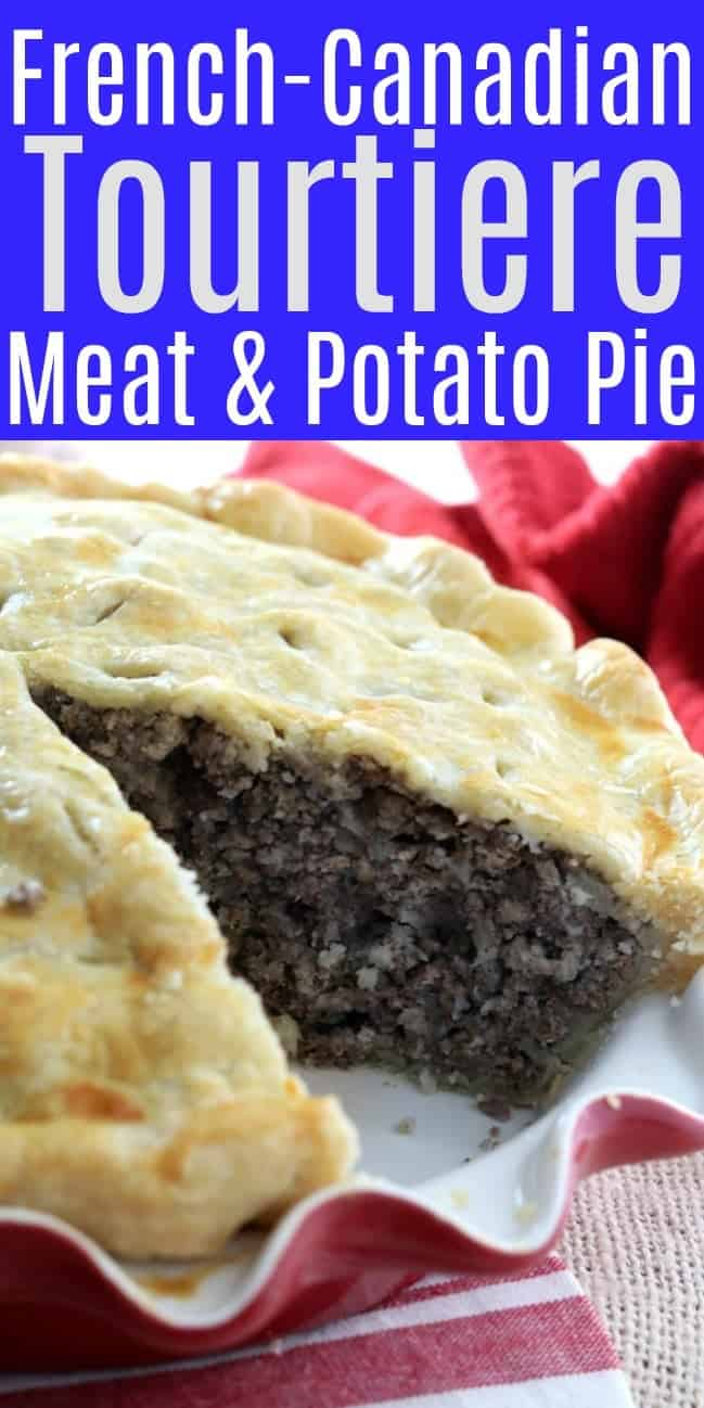 Tourtiere French Meat Pie with a slice removed