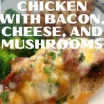 Chicken topped with bacon cheese and mushrooms 2