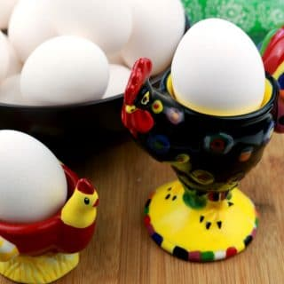 Easy Peel Hard Boiled Eggs raw eggs